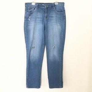 STYLE & CO Boyfriend Jeans Macy's Distressed 14